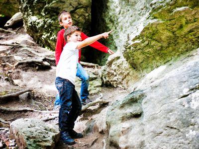 Die Kinder auf Entdeckungstour