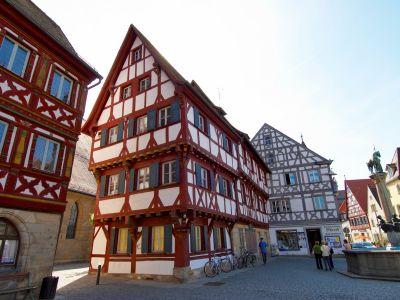 Fachwerkhäuser am Paradeplatz Forchheim